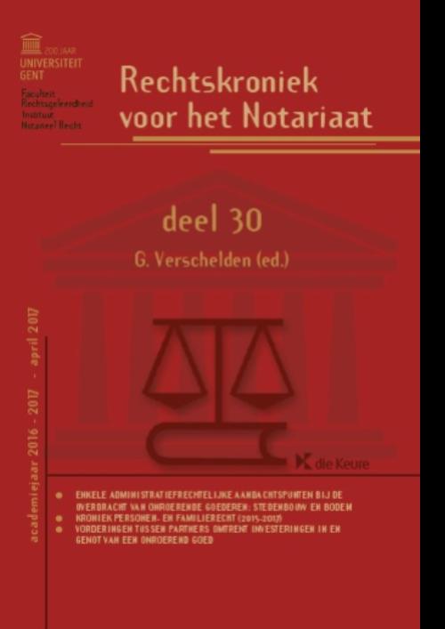 Rechtskroniek voor het Notariaat deel 30