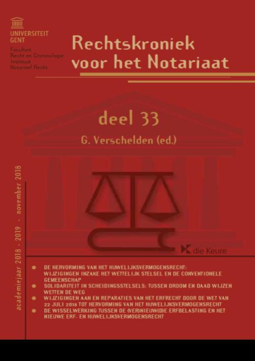 Rechtskroniek voor het Notariaat deel 33