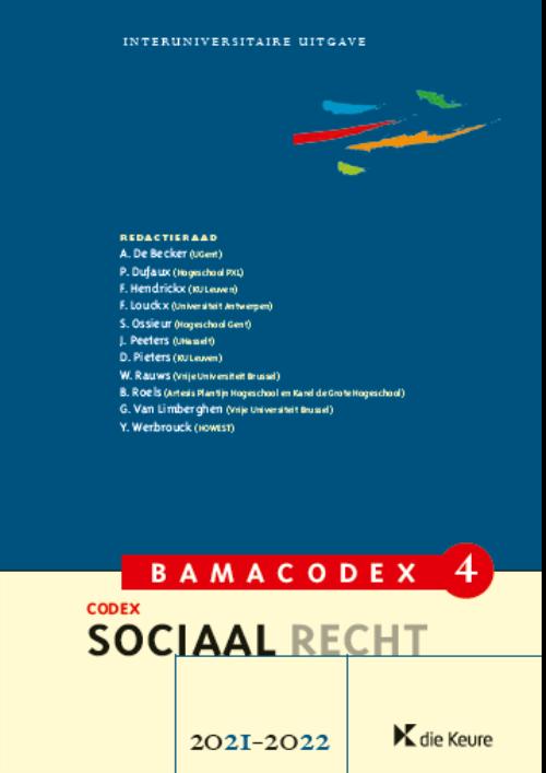 BAMACODEX 4 - Sociaal recht 2021-2022