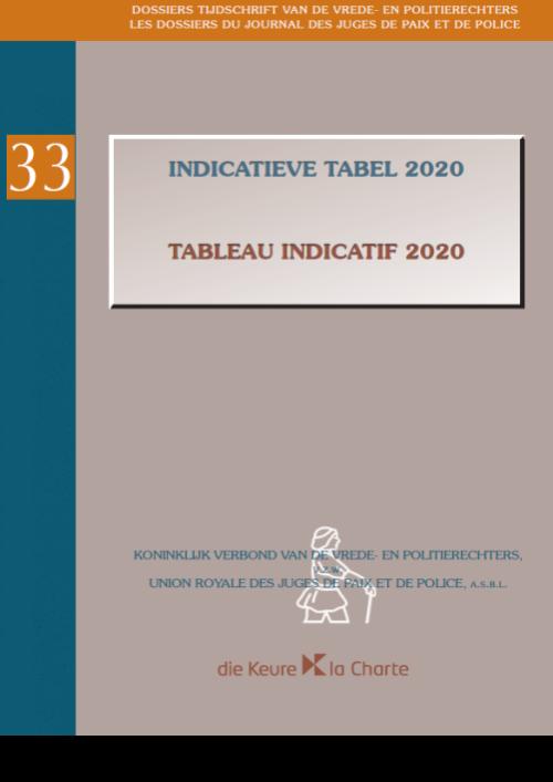 Dossier 33 - Indicatieve Tabel 2020 / Tableau Indicatif 2020
